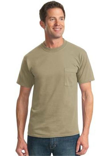 Buy Heavyweight Blend 50/50 Cotton/Poly Pocket T-Shirt