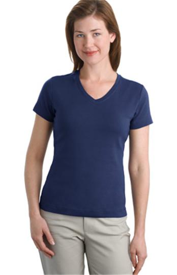 Buy Ladies Modern Stretch Cotton V-Neck Shirt