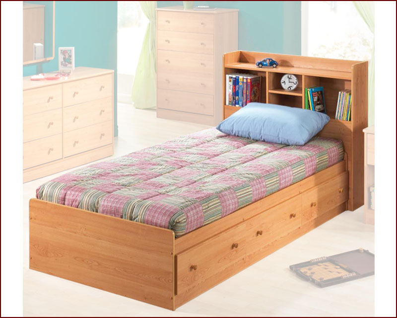 Image Result For Twin Bed With Storage Drawers And Bookcase Headboard