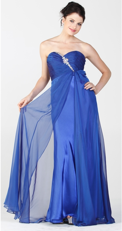 Buy Strapless Evening Dresses with Beads