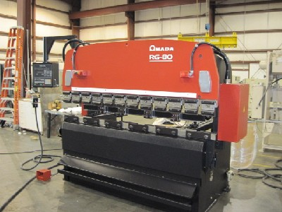 8' x 88 Ton, Hydraulic, Up-Acting, Amada NC9EX-II 3 Axis CNC Gauges