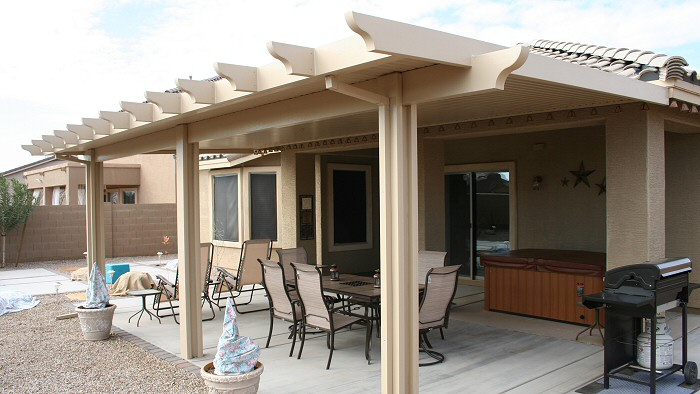 solid patio cover ideas solid alumawood patio cover corona ca patio covers - Patio Overhang Ideas
