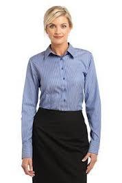Buy Ladies Stripe Non-Iron Pinpoint Oxford
