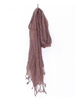 Buy Cotton Brown Thai Scarves