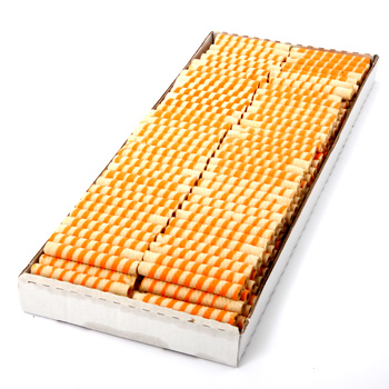 Buy Wafer rolls - ORANGE SWIRL