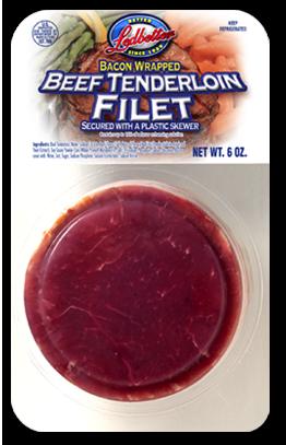 Buy Bacon wrapped beef tenderloin filet