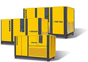 Buy Rotary screw compressors with V-belt drive 335-600 hp