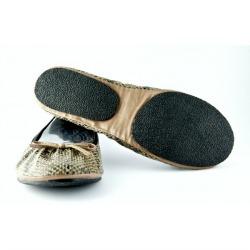 Buy Fit in Cloud Brown Snakeskin Shoes