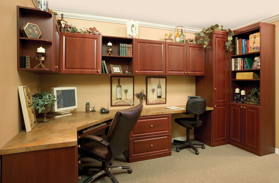 Attractive Custom Home Office Furniture Design Ideas