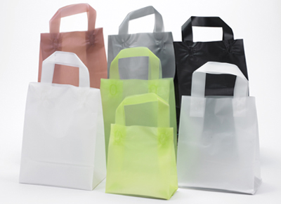 Buy Frosted Color High Density Loop Handle Shoppers Bags