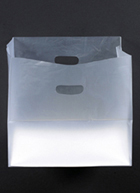 Buy Frosted Clear High Density Die Cut Handle Shopper Bags