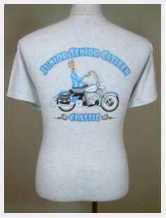 Buy T-Shirts - Men Junior Senior Citizen Classic Motorcycle