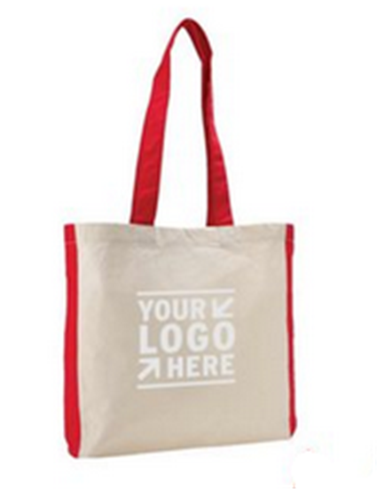 Buy Color Accent Gusseted Economy Tote Bag