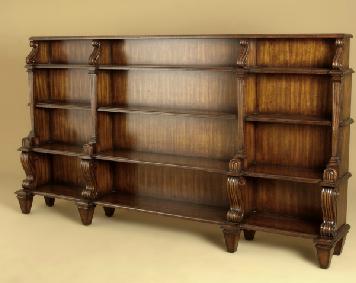 Buy Aged Regency Finished Carved Open Bookcase