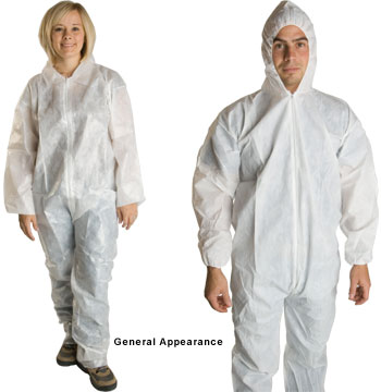 PE Coated Polypropylene Suits and Coveralls