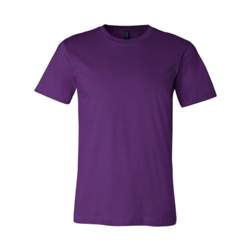 Buy Purple Unisex Short Sleeve Crewneck T-Shirt by Canvas