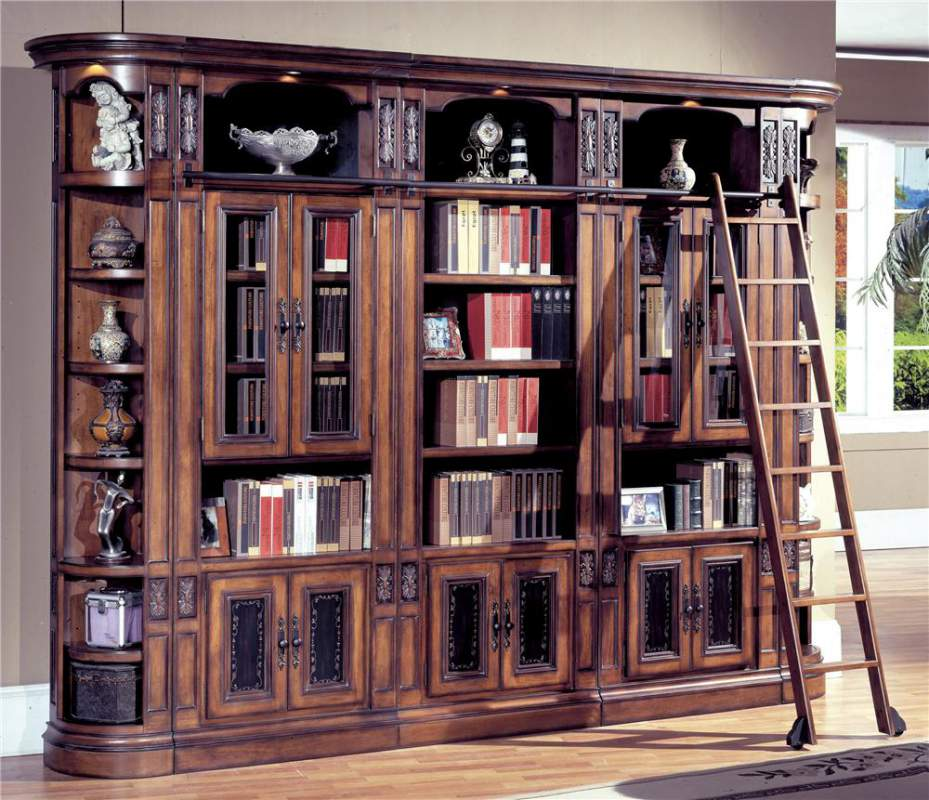Wall Bookcase With Doors Amazing Bookcases