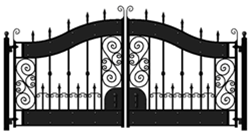 Buy Hyde Park 14' Biparting Swing Driveway Gate
