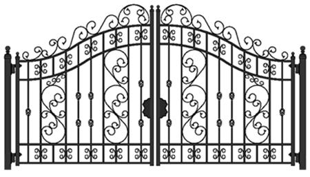 Buy Versailles 16' Biparting Swing Driveway Gate