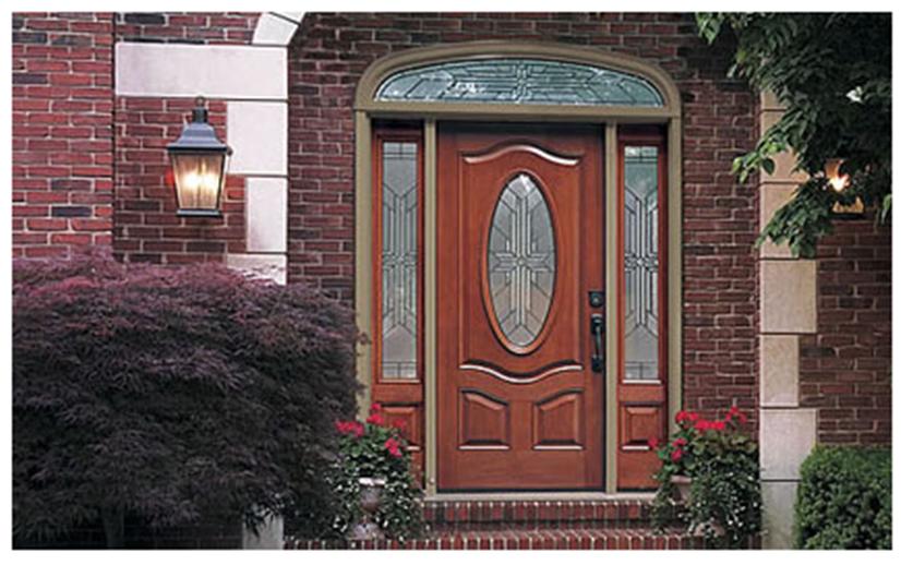 Buy Classic-Craft Mahogany Fiberglass Entry Door