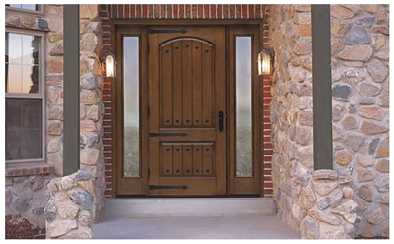 Classic-Craft Rustic Fiberglass Entry Door
