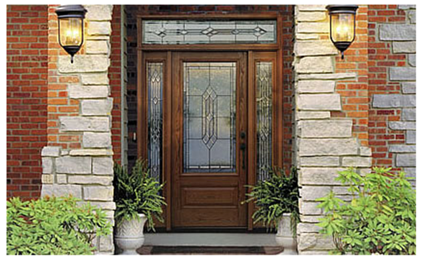 Buy Classic-Craft Oak Fiberglass Entry Door