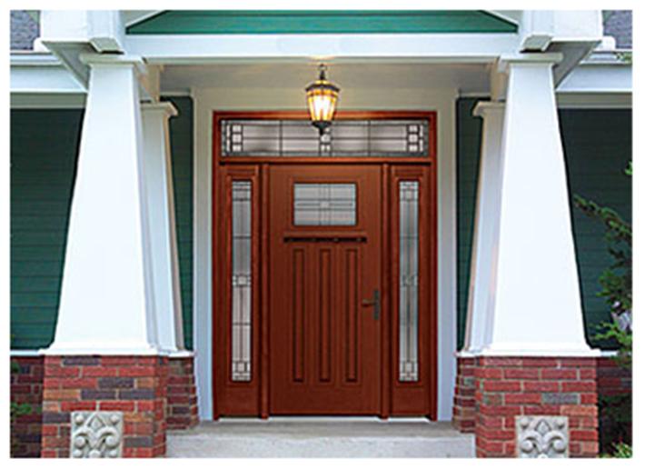 Buy Fiber-Classic Mahogany Fiberglass Entry Door