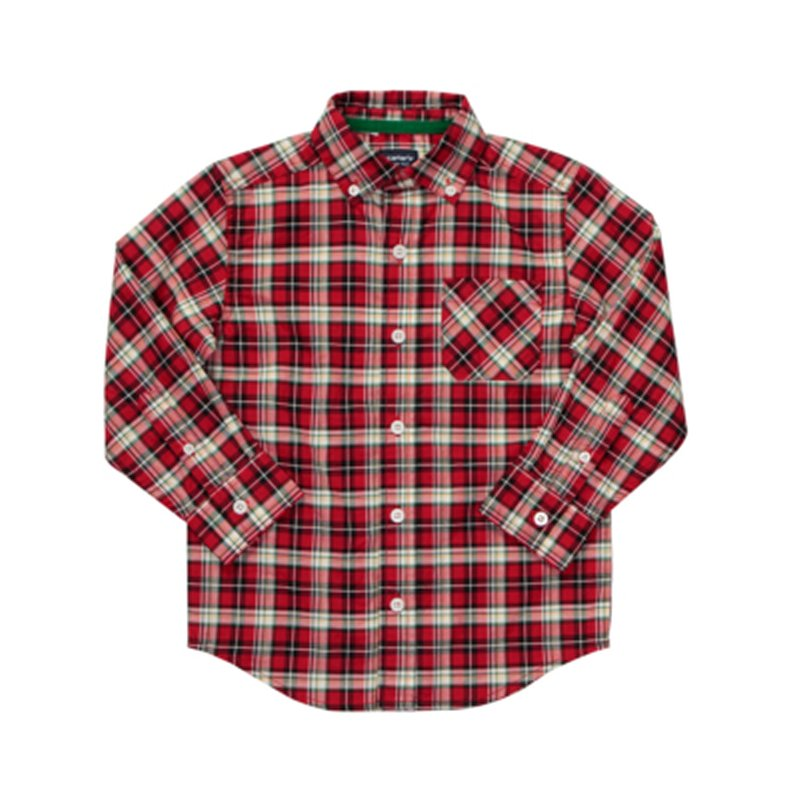 Buy Red Plaid Woven Shirt