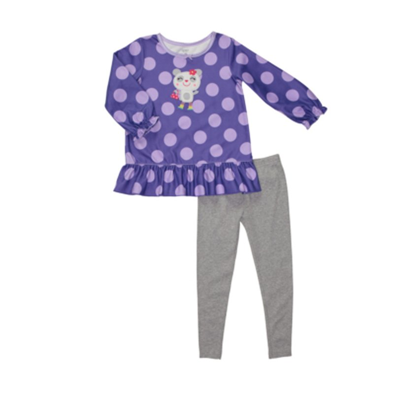 Buy Polka Dot Fleece 2-Piece Tunic Pj's