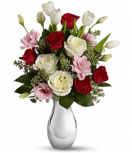 Buy Teleflora's Love Forever Bouquet with Red Roses