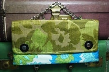Buy Blue and Green Vintage Chain Clutch