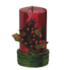 Buy Holly Pillar Candle