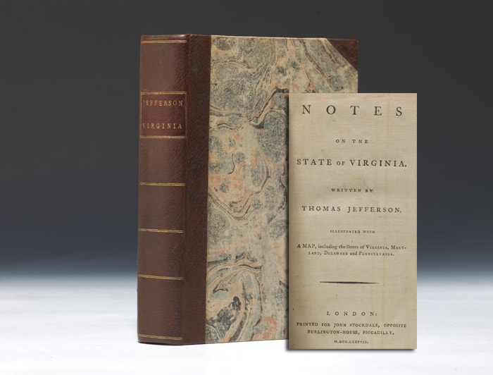 Buy Desirable First English Edition Of Jefferson's Notes On Virginia, With Original Map