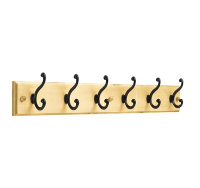 "Buy Hook Rail, 27"" With 6 Scroll Hooks"