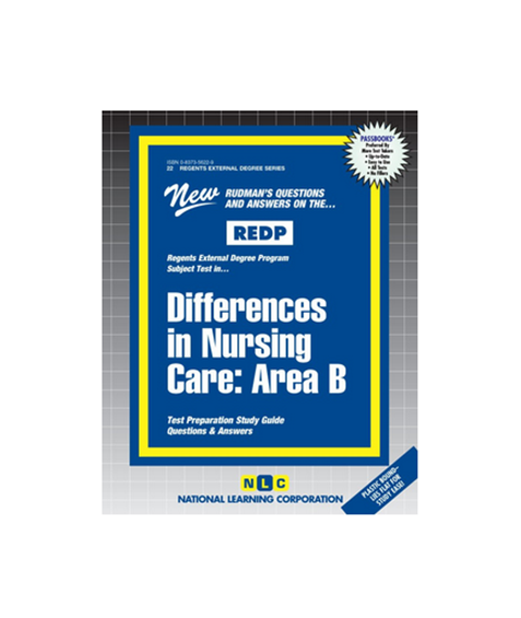 Buy Differences In Nursing Care: Area B, REDP-22 Book