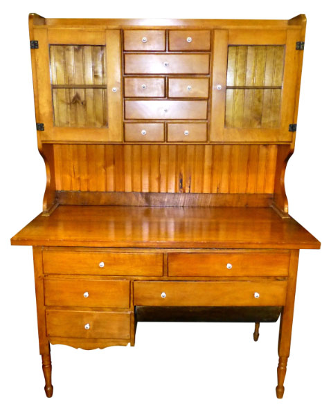 Buy 1920's Bakers Cabinet With Bead Board Back