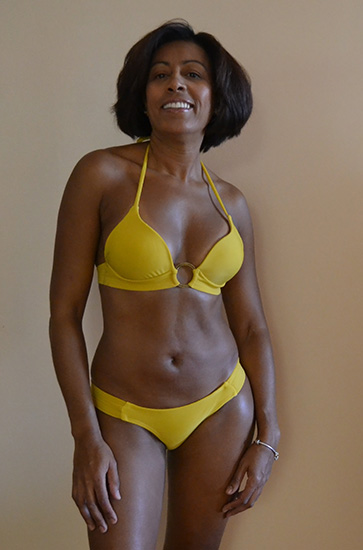 Buy Padded Bikini Top Link with Gold Ring