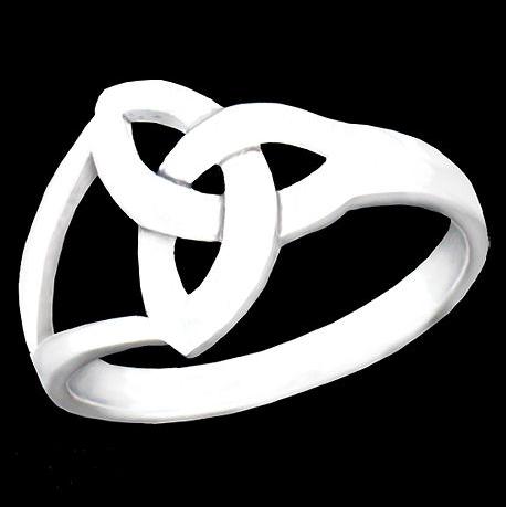 Buy BQ554 Sterling Silver Modern Trinity Knot Ring