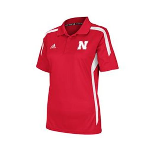 Buy Adidas University of Nebraska-Lincoln Cornhuskers Womens Sideline Polo