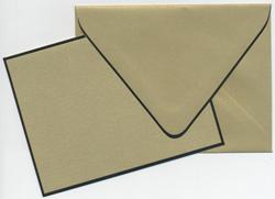Buy Curious Gold Leaf/Black Border A2 Card & Envelope 12/box