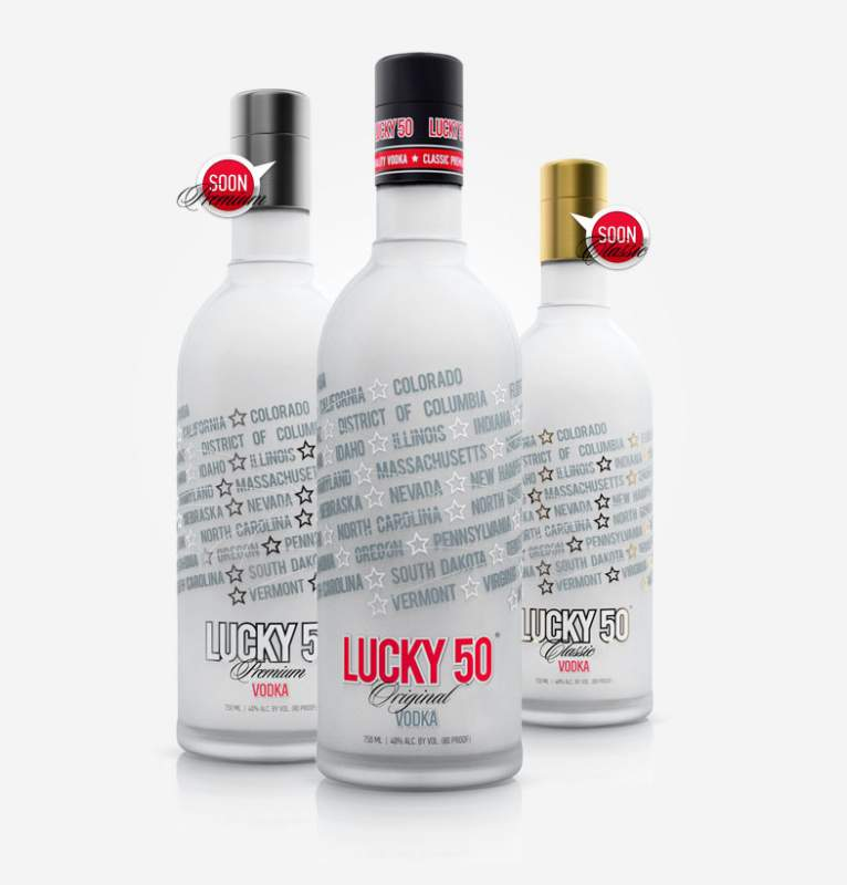 Buy Premium Vodka LUCKY 50