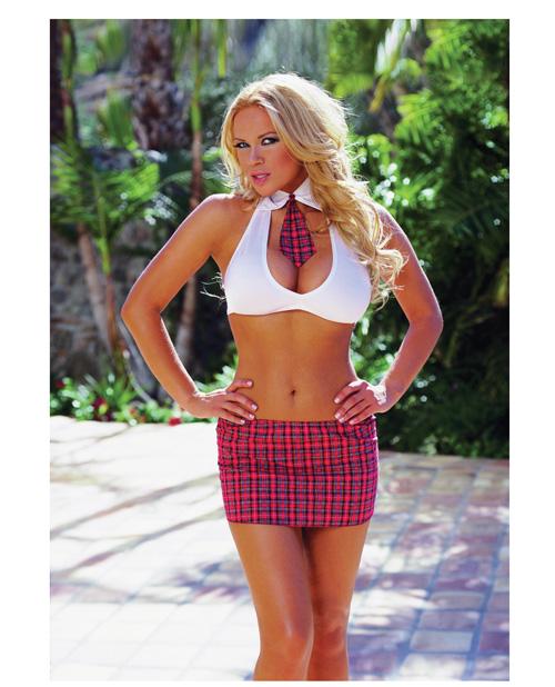 Buy 3 pc Extra Credit School Girl Halter Top w/Attached Tie, Skirt