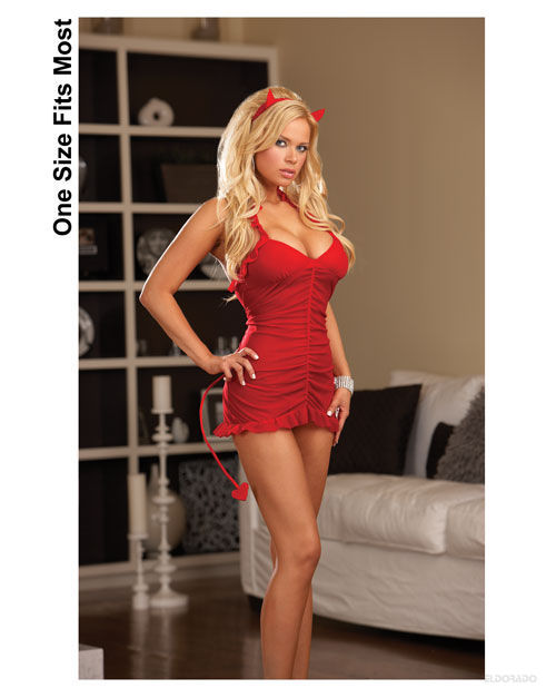 Buy 3 pc Sinners Paradise Stretch Babydoll w/Ruching Details