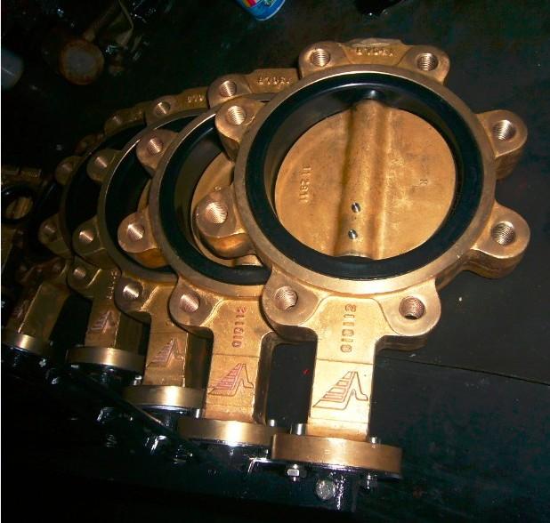 Buy Brass disc and brass body butterfly valve