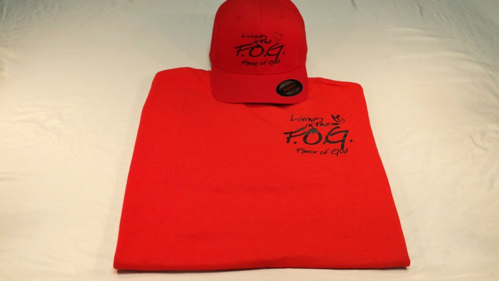 Buy Radiant red tshirt/hat combo