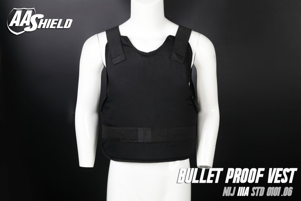 Buy AA SHIELD Bullet Proof Vest Comfort Concealable Aramid NIJ IIIA 3A Size L Black