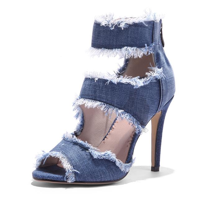 Buy Denim High Heel Sandals Assorted heels