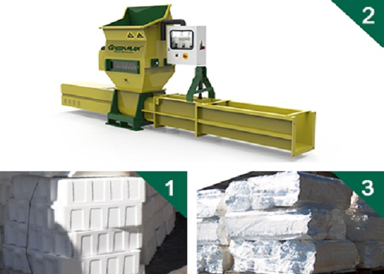 Buy GREENMAX APOLO C200 EPS foam compactor
