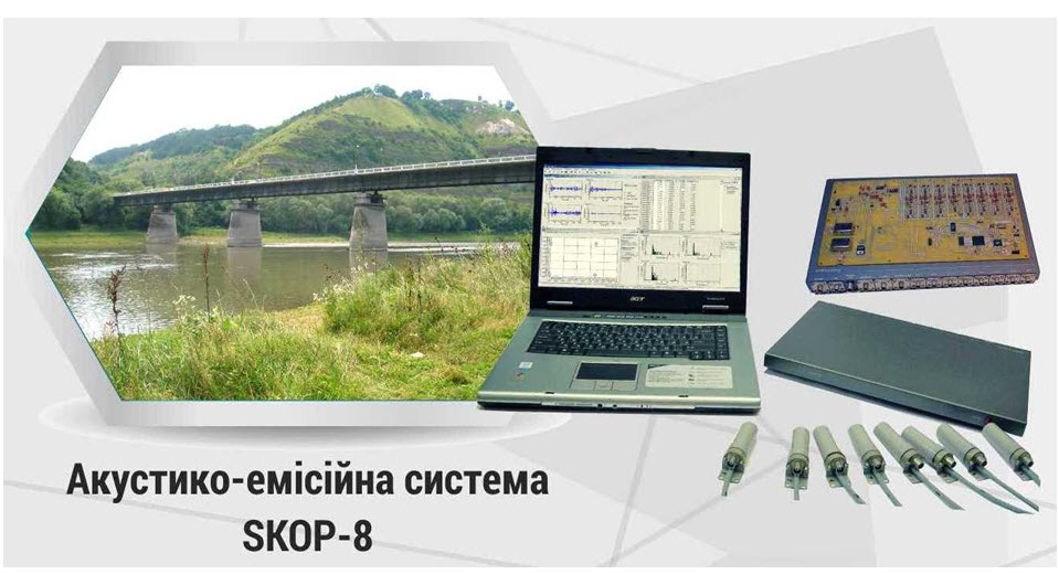 Innovation: Acoustic emission systems for non-destructive testing products and designs SKOP-8. IF0007