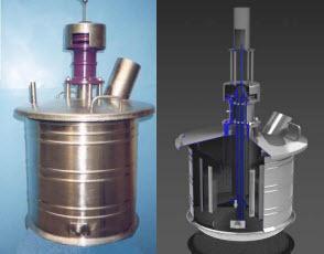 Adjustable vibro-granulator afloat nitrogen fertilizers PP026